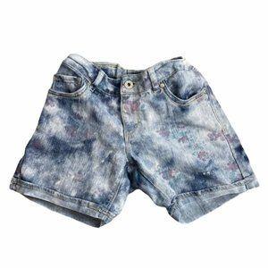 LEVI'S Light Wash Flower Print Girl Shorts Size 16